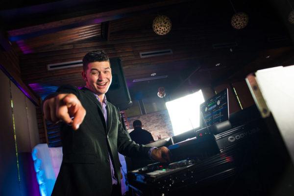 DJ Brandon Rolland enjoying work