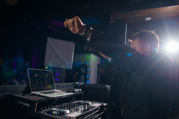 DJ Jason Middleton working the crowd