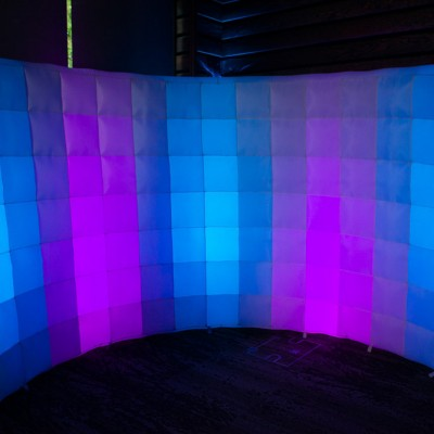 A multicolored inflatable backdrop