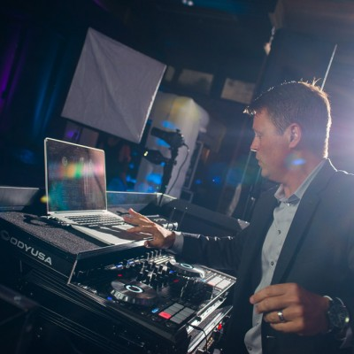 DJ Jason Middleton at work