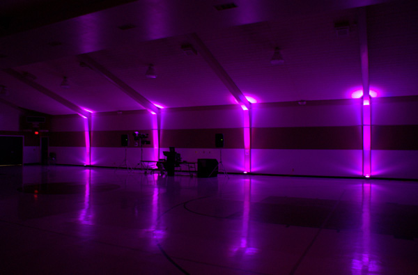 Purple lighting